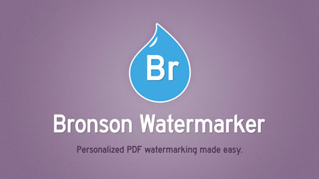 Bronson Watermarker Promo (Graphics & animation)