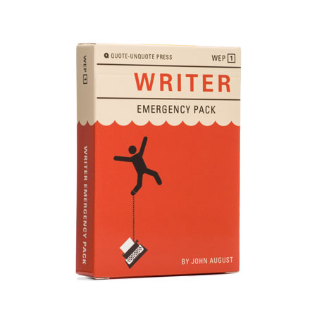 Writer Emergency Pack (Product design & identity)
